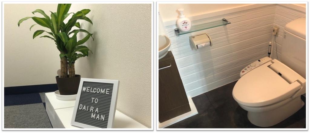 観葉植物/トイレ