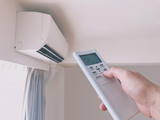 適温に調整したエアコン